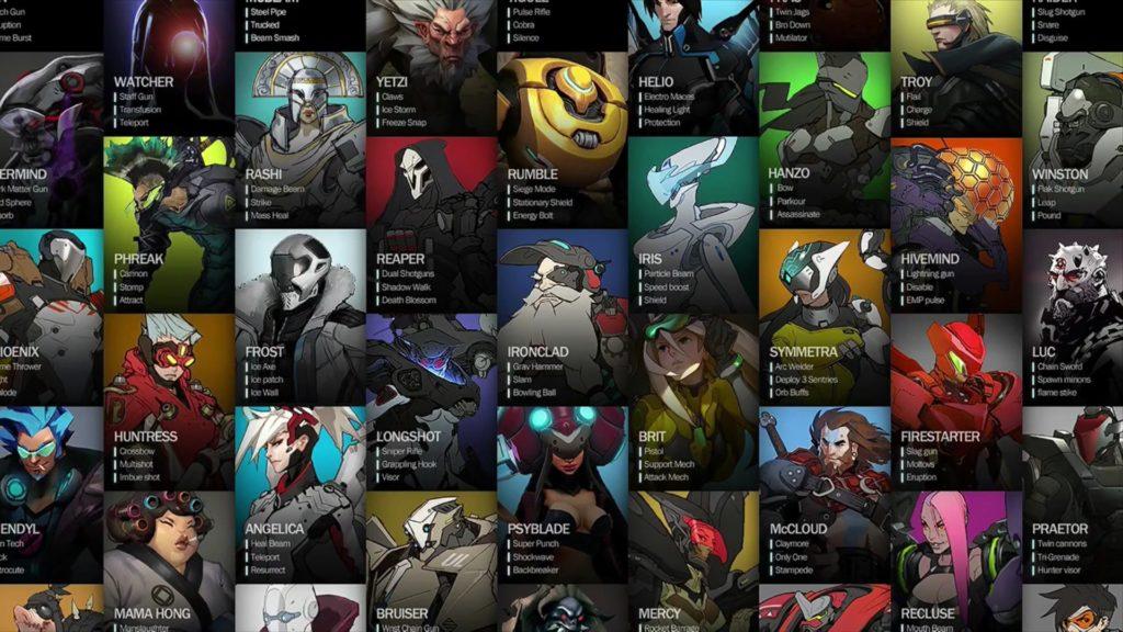 Ранние герои - некоторые герои находятся в финальной версии
