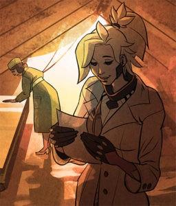 Ангел читает письмо